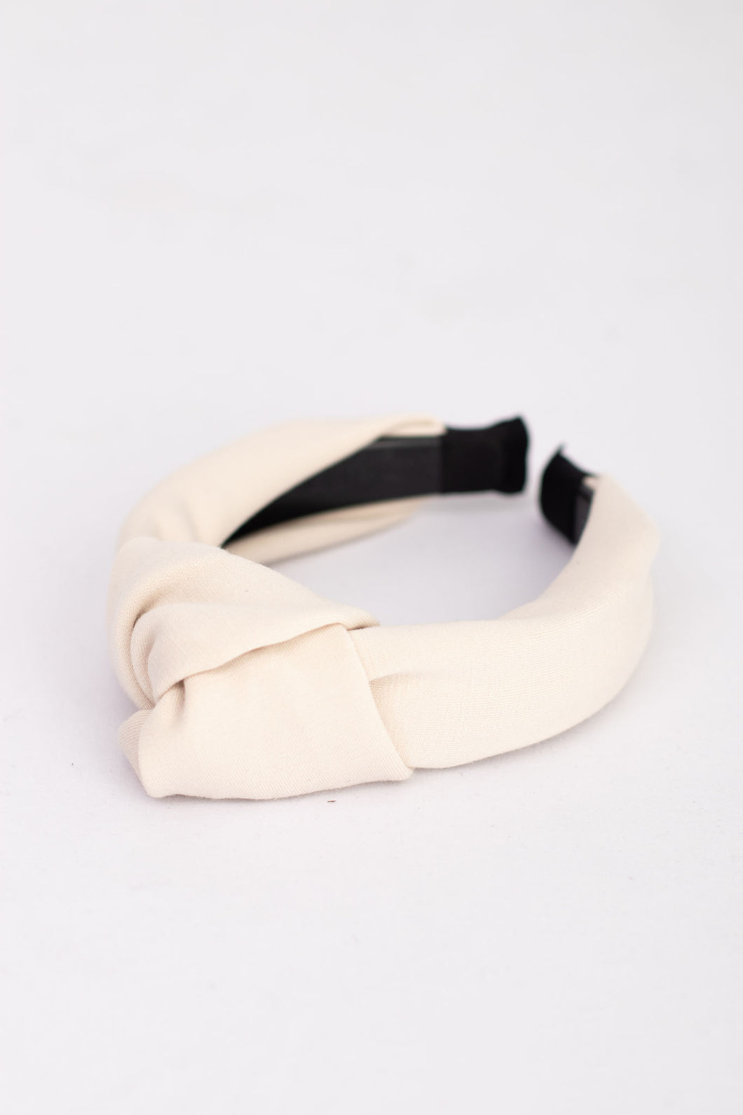 Collins Fabric Top Knot Headband - Ivory