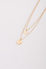 Rowan Rose Double Coin Charm Layered Necklace - Gold
