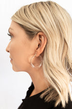 Austria Acetate Latch Hoop Earring - Clear