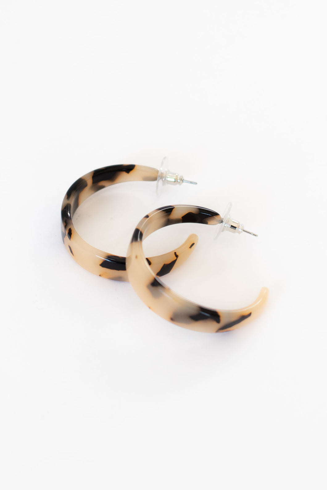 Cleo Leopard Acetate Hoop Earrings