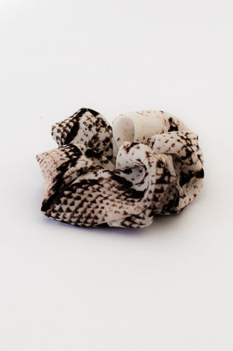 Scandal Snake Print Hair Scrunchie