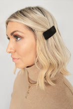 Vibes Faux Leather Hair Clip - Black