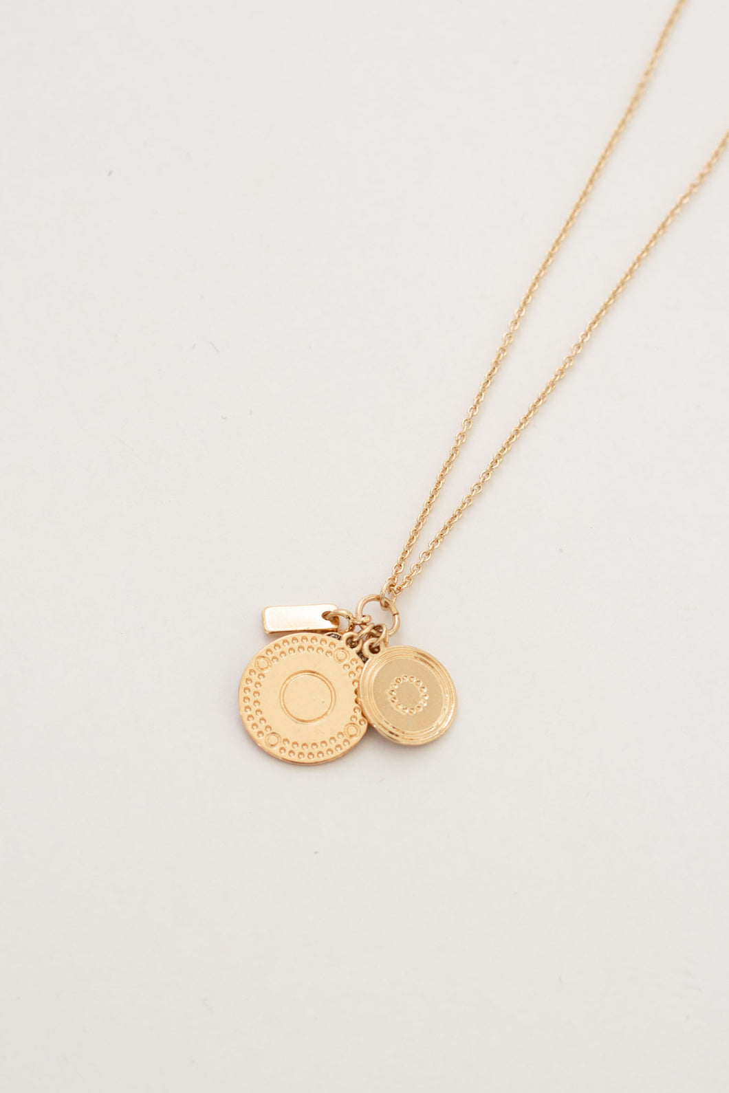 Femme Coin Charms Cluster Necklace - Gold