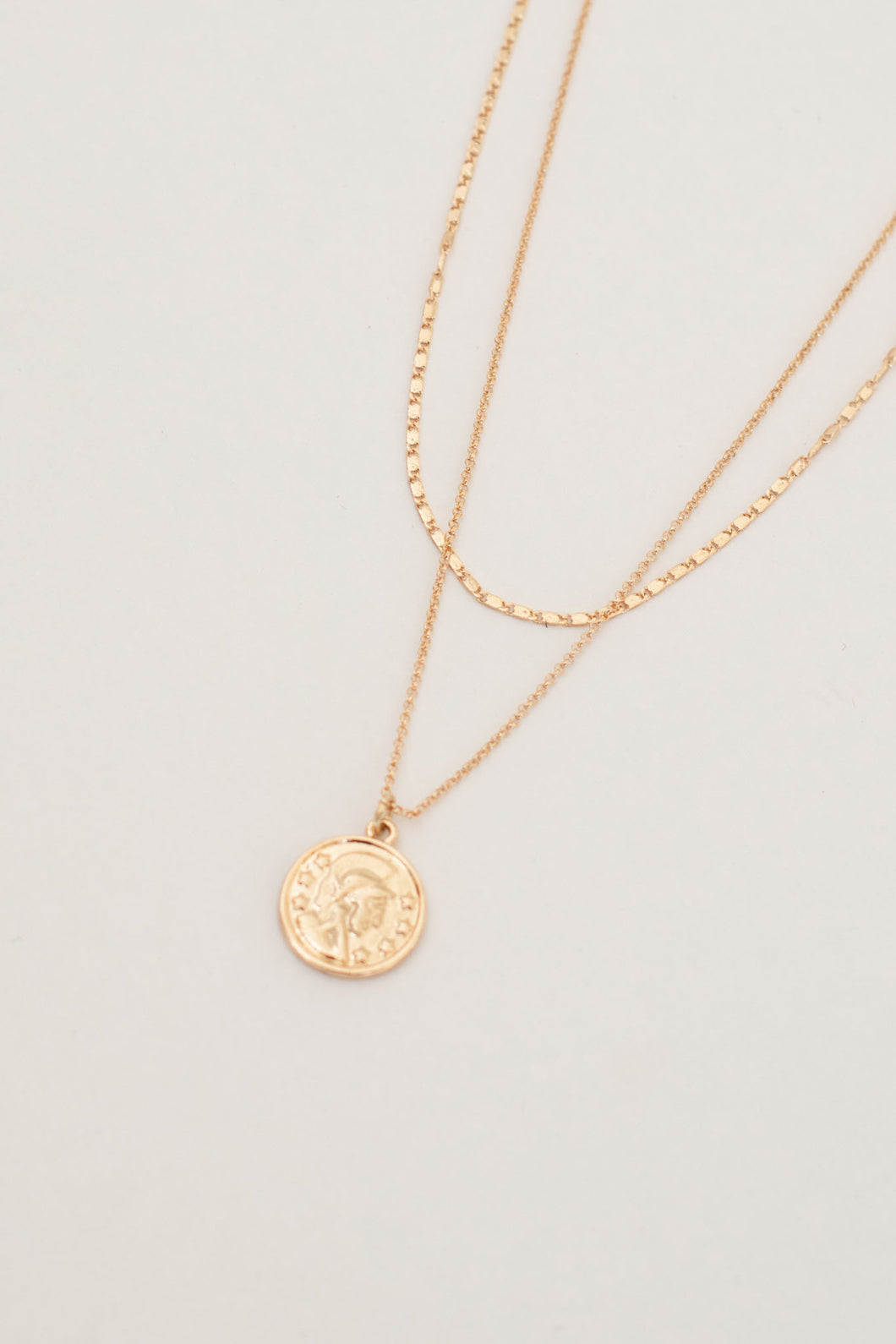 Cosmo Double Layer Coin Pendant - Gold