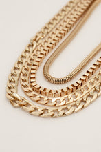 Champagne Wishes Mixed Chains Layered Necklaces Set of 4 - Gold