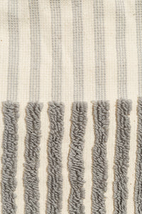 Cimarron Stripe Hand Towel - Pale Grey