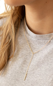 Dani Delicate Lariat Necklace - Gold