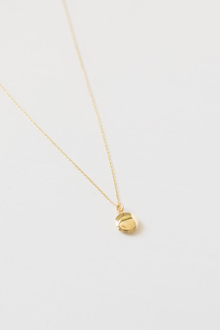 Elle Keepsake Locket Necklace - Gold