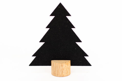 Minimalist Eco-felt Trees on Wooden Base