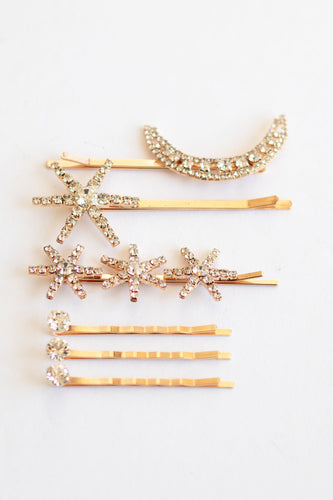 Moonlight Gold Hair Pin - Set of 6