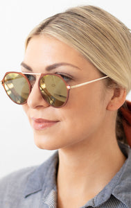 Irina Round Fashion Sunglasses -  Maroon