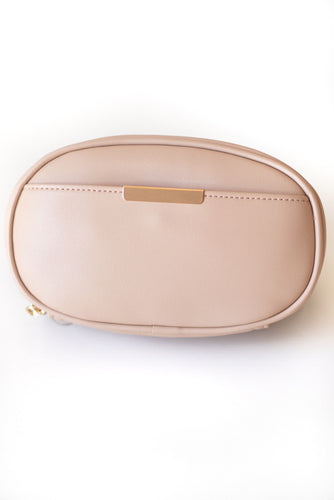 Indio Faux Leather Oval Belt Bag - Tan