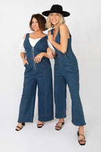 Far Out Denim Zip Front Jumpsuit