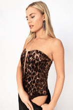 Brighton Animal Print Leatherette Strapless Tube Bodysuit