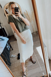 Mantra Midi Skirt - Off White