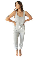 Slate Sleeveless Jumpsuit w Drawstring - Heather Grey