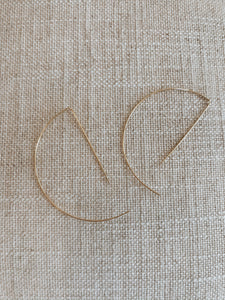 Forever Yours 14k Threader Wire Hoop Earrings - Gold