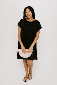 Bon Voyage Tiered Dress - Black