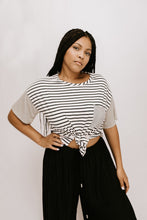 Set Sail Striped Top - Black