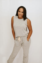 Keep It Real Tank + Pant Lounge Set - Grey