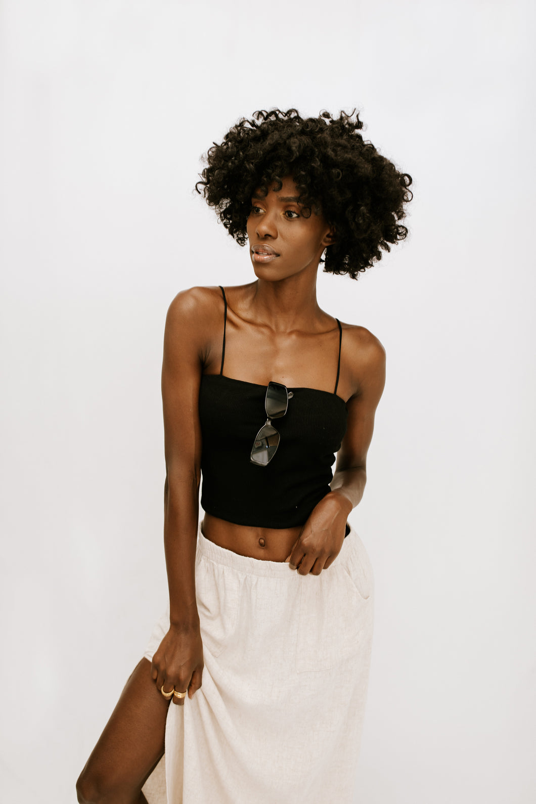 Sure Thing Crop Top - Black