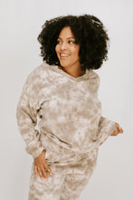 Morning Side Tie Dye Long Sleeve + Pant Set - Taupe - More Sizes