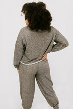 Load image into Gallery viewer, Start Fresh Sweatshirt + Jogger Set - Charcoal