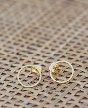 Circle Ring Cut Out Stud Earrings