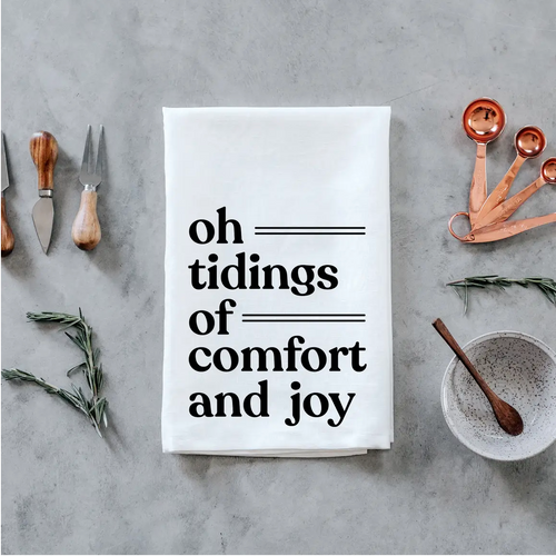 Tidings Of Comfort and Joy Tea Towel