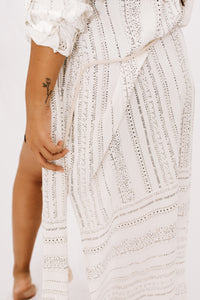 Blakely Striped Dress - Ivory