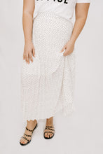 Soiree Pleated Midi Skirt - Ivory