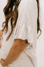 Take It Easy Top + Short Lounge Set - Heather Grey