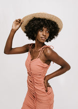 Beat The Heat Ruched Dress - Rust
