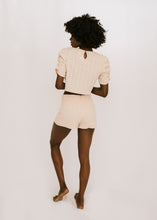 Imagine That Ruffle Shoulder Short Set - Natural