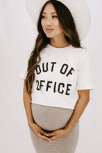 Load image into Gallery viewer, 'Out Of Office' Crop Graphic TShirt - White