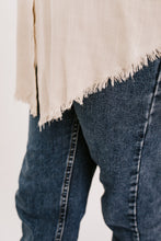 Sawyer Frayed Hem Top - Stone