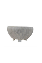 Conquer Terracotta Textured Footed Planter, Cream