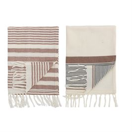 Striped Cotton Kitchen Tea Towels