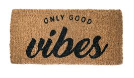 Good Vibes Natural Coir Doormat