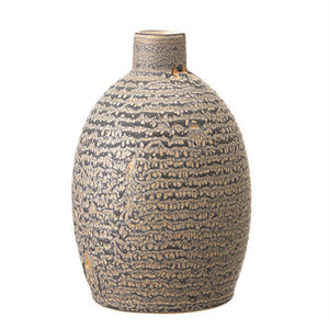 Clays Decorative Stoneware Vase, Reactive Glaze - Matte Grey