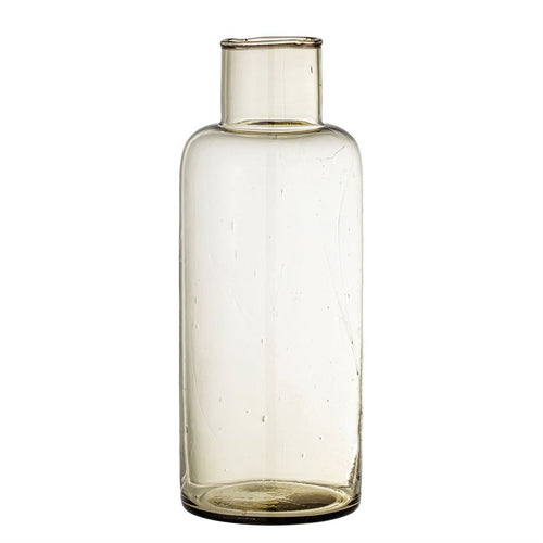 Bailee Recycled Glass Decanter - Olive