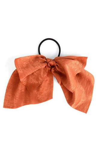 Ribbon Hair Tie Solid Color - Terracotta