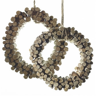 Birch Peg Wreath with Rope Hanger