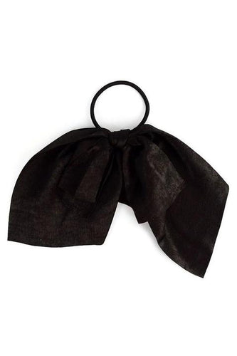 Ribbon Hair Tie Solid Color  - Black