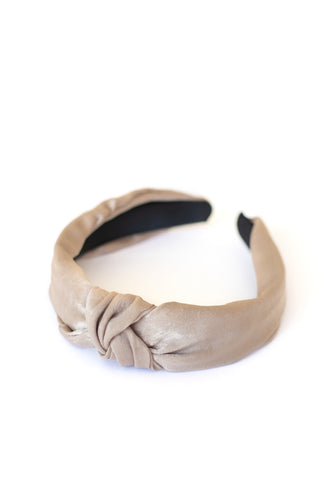 Top Knot Headband - Taupe