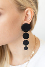 Lluvia Post Drop Earrings - Matte Black - Luna & Saya
