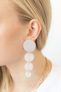 Lluvia Post Drop Earrings - Sand - Luna & Saya