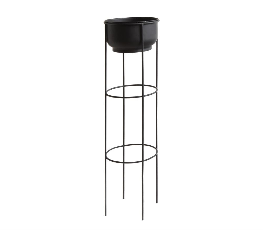Lungo Black Metal Plant Stand- WAREHOUSE PICKUP ONLY