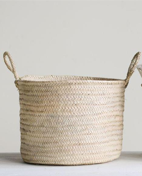 Chevelon Hand-Woven Moroccan Basket w/ Handles