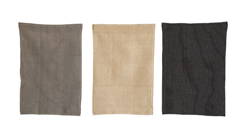 Wicks Cotton Waffle Weave Tea Towels - Neutral Colors